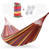 ทบทวน ที่สุด Cotton Rope Outdoor Swing Fabric Camping Hanging Hammock Canvas Bed Lambertshop Intl