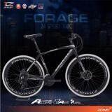 Coyote จักรยานไฮบริด 700C ตัวถัง อลูมิเนียม ไซส์ 49 เกียร์ Shimano 24 สปีด รุ่น Forage สีดำ บรอนซ์ ใหม่ล่าสุด