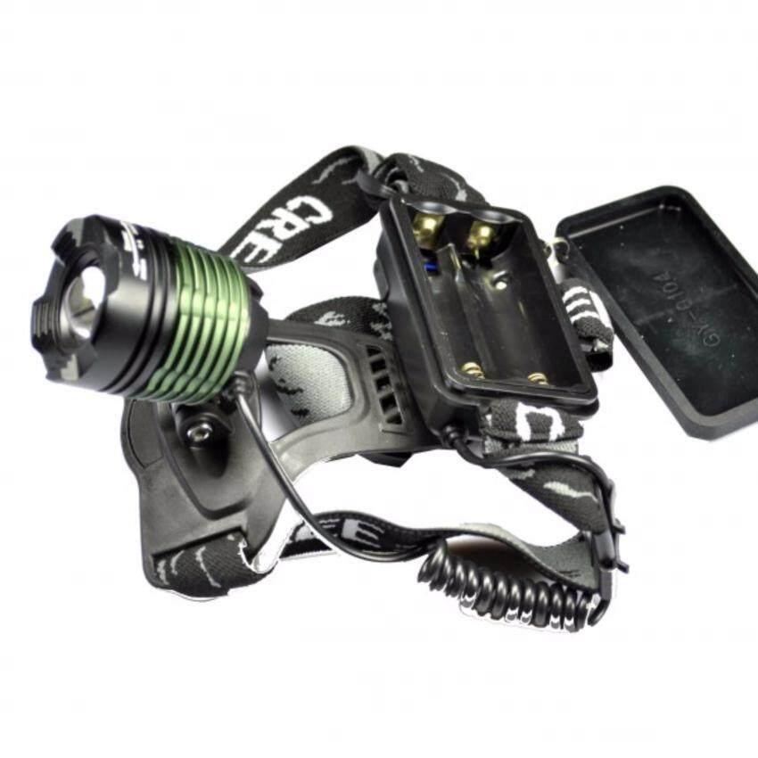 ราคา Cree ไฟฉาย Led คาดหัว High Power Zoom Headlamp แบบชาร์จไฟได้ในตัว หลอดไฟ T6 ใหม่ล่าสุด