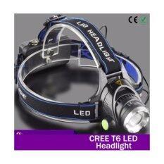 ราคา Cree ไฟฉาย Led คาดหัว High Power Zoom Headlamp แบบชาร์จไฟได้ในตัว หลอดไฟ T6 เป็นต้นฉบับ