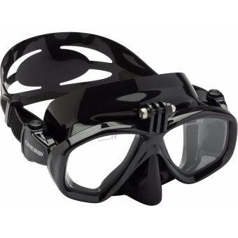 CRESSI ACTION MASK FOR DIVING AND SNORKELING BLACK/CLEAR FRAME