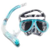 ขาย Cyber Scuba Diving Equipment Dive Mask Dry Snorkel Set Scuba Snorkeling Gear Kit Blue ออนไลน์