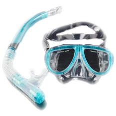 ราคา Cyber Scuba Diving Equipment Dive Mask Dry Snorkel Set Scuba Snorkeling Gear Kit Blue Unbranded Generic ออนไลน์