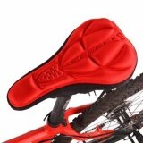 ส่วนลด สินค้า Cycling 3D Silicone Soft Thick Gel Cushion Cover Bike Bicycle Saddle Seat Pad Red Intl