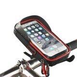 โปรโมชั่น Cycling Bike Handlebar Bag Waterproof Front Frame Phone Mount With Touch Screen For Cellphone Below 6 Inches Intl จีน