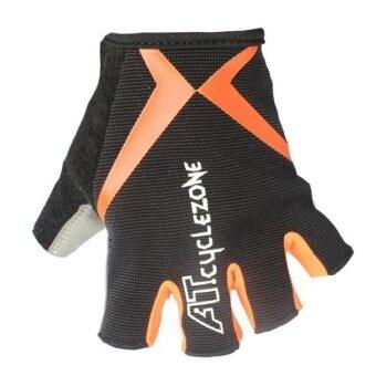 ถุงมือขี่จักรยานจักรยานจักรยานเจลครึ่งนิ้วถุงมือกันกระแทก - นานาชาติ