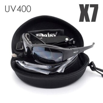 DAISY X7 แว่นตาผู้ชาย UV400 แว่นตากันแดดกระสุนปืนยิงปืน Gafas SMOKE LENS รถจักรยานยนต์จักรยานขี่จักรยานแว่นตา