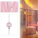 ราคา Decorative String Curtain Beads Wall Panel Fringe Room Door Window Pink ออนไลน์ จีน