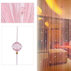 ซื้อ Decorative String Curtain Beads Wall Panel Fringe Room Door Window Pink ออนไลน์ จีน
