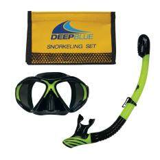 Deep Blue Xtreme Mask and Snorket Bag Set