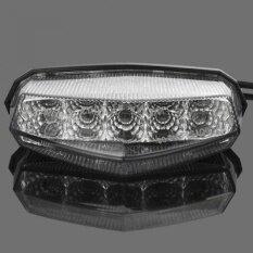 THB 2.062. DLLL 1x Universal Clear Lens 10 Red LED Brake Stop Running Rear Tail Light ...