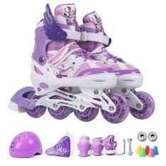 Dmall รองเท้าสเก็ต โรลเลอร์เบลด Roller Blade Skate รุ่น S 27 32 1ชุด Purple เป็นต้นฉบับ