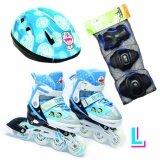 ขาย ซื้อ ออนไลน์ Doraemon รองเท้าอินไลน์สเก็ต โดราเอมอน เบอร์ 33 41 L Inline Skate Roller Blade Sports Doraemon Blue Size L ครบชุด