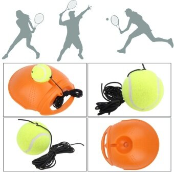 Duty Tennis Training Tool Exercise Tennis Ball Self-study Rebound Ball with Tennis Trainer Baseboard Sparring Device - intl