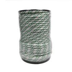 เชือกโพลีเอสเตอร์ถักสองชั้น ขนาด 5มิล X 50เมตร สีขาว เขียว ไทย