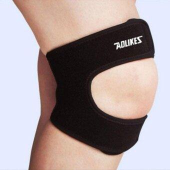 Elastic Brace Kneepad Adjustable Patella Knee Pads Knee Support Brace Safety Guard Strap For Basketball Free Size(24003) - intl