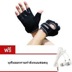 ทบทวน ที่สุด Elit Aolikes ถุงมือฟิตเนส ไซส์ M Fitness Glove Weight Lifting Gloves Grey แถมฟรี หูฟัง ออกกายกำลังแบบสอดหู