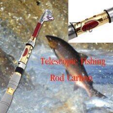 Sinlin เบ็ดตกปลา พกพา ยาว 2 1 เมตร Telescopic Fishing Rod Carbon รุ่น Fsr1 Df02 เป็นต้นฉบับ