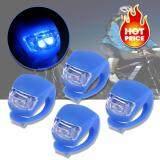 ราคา Elit ไฟฉายLedติดจักรยาน แฮนด์ฯ หมวก แบบซิลิโคน กันน้ำ Silicone Bike Light Led Blue Elit เป็นต้นฉบับ