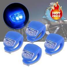 ทบทวน Elit ไฟฉายLedติดจักรยาน แฮนด์ฯ หมวก แบบซิลิโคน กันน้ำ Silicone Bike Light Led Blue