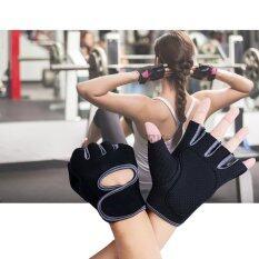ขาย Elit ถุงมือฟิตเนส ถุงมือออกกำลังกาย ไซส์ L Fitness Glove Weight Lifting Gloves Grey Elit ใน Thailand
