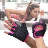 ขาย Sinlin ถุงมือฟิตเนส ถุงมือออกกำลังกาย ไซส์ L Fitness Glove Weight Lifting Gloves Pink