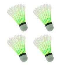 ส่วนลด Emylo Pack Of 4Pcs Green Night Light Glow Led Badminton Shuttlecock Birdies