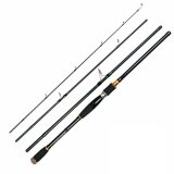 Era 2 1M Portable 4 Sections Carbon Fibre Outdoor Fishing Rod Lure Rod With Box Black Straight Handle Intl เป็นต้นฉบับ