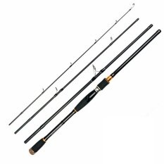 ทบทวน Era 2 1M Portable 4 Sections Carbon Fibre Outdoor Fishing Rod Lure Rod With Box Black Straight Handle Intl Empireera