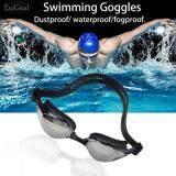 ราคา Esogoal Mirrored ซิลิโคนแว่นตาว่ายน้ำแว่นตาดำน้ำ 100 U V ป้องกัน Anti Fog Anti Shatter กันน้ำแก้ว ใหม่ ถูก