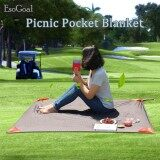 ขาย ซื้อ ออนไลน์ Esogoal Pocket Blanket With Carry Bag Attached Multipurpose For Beach Picnic Outdoor And Travel Mat Intl