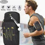 ขาย ซื้อ Esogoal Sports Armband Multifunctional Pockets Workout Running Armbag With Key Earphone Hole For Iphone All Below 6 2 Smartphone Black ใน จีน