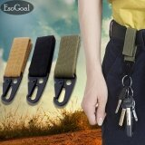 ขาย ซื้อ Esogoal Tactical Gear Clip Nylon Key Keeper Keychain For Molle Bags Belt Webbing Attachment Strap Set Of 3 Black Khaki Army Green Intl จีน