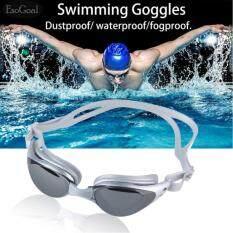ส่วนลด Esogoal Mirrored ซิลิโคนแว่นตาว่ายน้ำแว่นตาดำน้ำ 100 U V ป้องกัน Anti Fog Anti Shatter กันน้ำแก้ว Esogoal ใน จีน