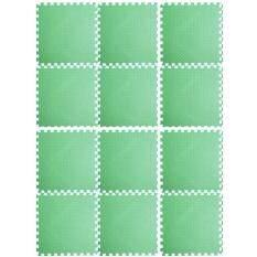 ซื้อ แผ่นรองคลาน แผ่นกันกระแทก Eva 60 60 1 2 มี 12 แผ่นต่อชุด สีเขียว เขียว พื้นที่ 180 240 ใน กรุงเทพมหานคร
