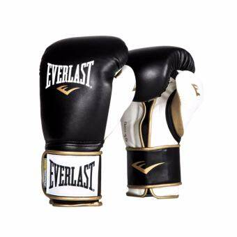 Everlast นวม POWERLOCK TRANING GLOVES VELCRO 12OZ (สีดำ/สีขาว)