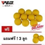 ขาย Exceed ลูกกอล์ฟฟองน้ำ สีเหลือง แพ็ค 10 ลูก แถมฟรี อีก 3 ลูก Golf Indoor Beginners Practicing Balls Soft Training Ball Pu 10 3Pcs Ball Yellow Q008 Pgm ถูก