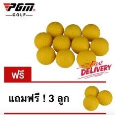 ขาย Exceed ลูกกอล์ฟฟองน้ำ สีเหลือง แพ็ค 10 ลูก แถมฟรี อีก 3 ลูก Golf Indoor Beginners Practicing Balls Soft Training Ball Pu 10 3Pcs Ball Yellow Q008 ผู้ค้าส่ง