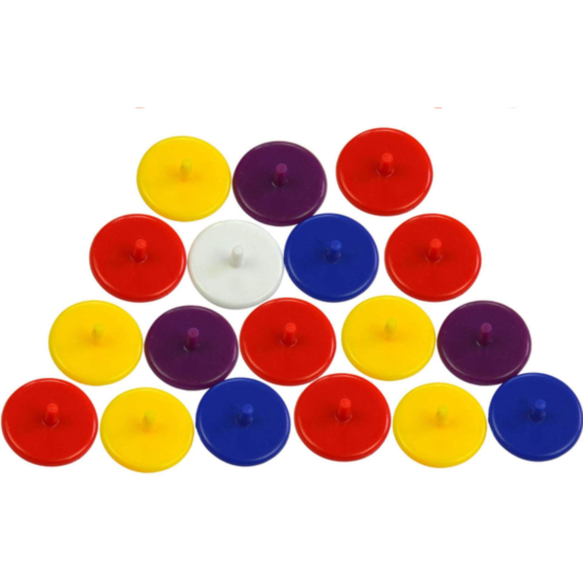 EXCEED 20Pcs size 24mm Plastic Round Golf Ball Markers Golfer Training Aid (Random Colour) MKM0001 กอล์ฟบอลมาร์คเกอร์