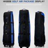 Exceed กระเป๋าใส่ถุงกอล์ฟขึ้นเครื่องบิน Hkb006 สีดำแถบน้ำเงิน เป็นต้นฉบับ