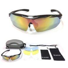 ราคา Expert Group แว่นตา จักรยานครบชุด พร้อมเลนส์เปลี่ยน 3 แบบ สีดำ Unbranded Generic ไทย