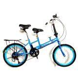 Expert Group จักรยานพับได้ Folding Bike 2 อาน 20 นิ้ว 7 Speed สีฟ้า ขาว เป็นต้นฉบับ