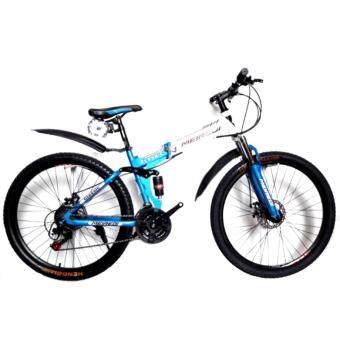 EXPERT GROUP จักรยานเสือภูเขาพับได้ MEIREDI 26\21 เกียร์โช้คหน้า-กลาง บังโคลนหน้า-หลัง วงล้ออัลลอย (สีขาว/ฟ้า)