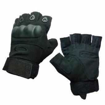 ถุงมือ เปิดนิ้ว Factory Pilot Gloves - สีดำ
