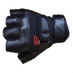 Fashion Bag ถุงมือฟิตเนส ถุงมือยกน้ำหนัก Fitness Glove 1 คู่ รุ่น R (สีดำ).