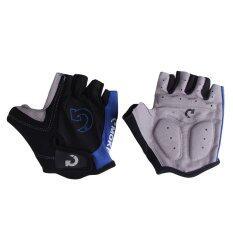ราคา Fashion Cycling Bicycle Motorcycle Sport Gel Half Finger Gloves Blue Size L Unbranded Generic เป็นต้นฉบับ