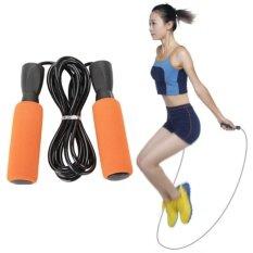 Fashion Style ซมลูกปืนเบา ๆ กระโดดเชือกข้ามเชือกจัดการสำหรับการออกกำลังกาย ความเร็วกระโดด การออกกำลังกาย มวย เผาผลาญพลังงาน.