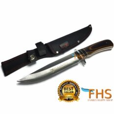 โปรโมชั่น Fhs Columbia G33 Knife มีดเดินป่าขนาดกลาง ด้ามจับลายไม้สวยงาม วัสดุแข็งแรงทนทาน ใบมีดแหลมและคม