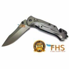 โปรโมชั่น Fhs Stainless Steel Knife Da31 มีดพับเอนกประสงค์ใบตัดสายเข็มขัด ระบบช่วยกางใบมีดแบบไว