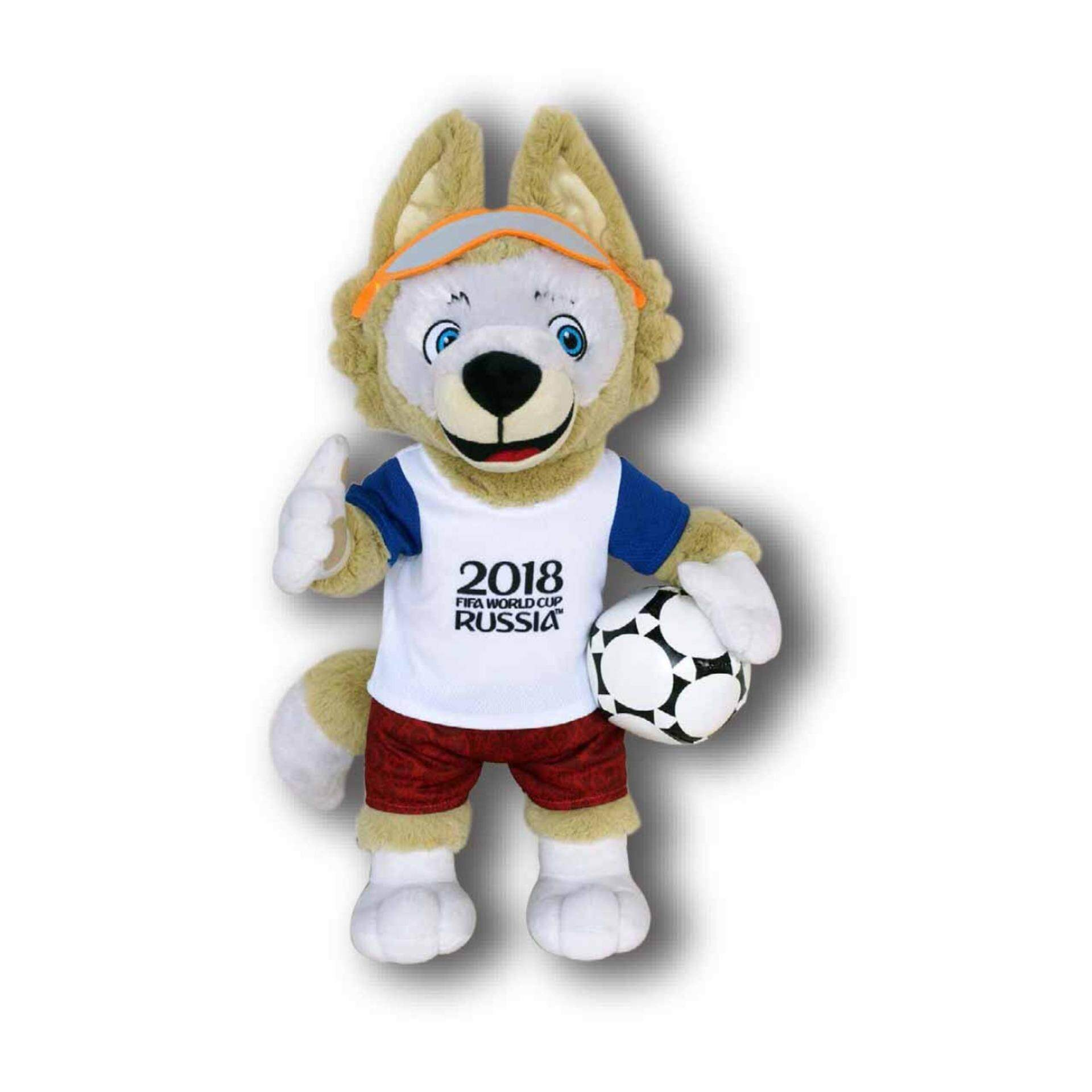 "2018 FIFA WORLD CUP RUSSIA ตุ๊กตา ซาบิวากา ขนาดความสูง 10"" สวมชุดฟุตบอลโลก 2018 (เล็ก)"